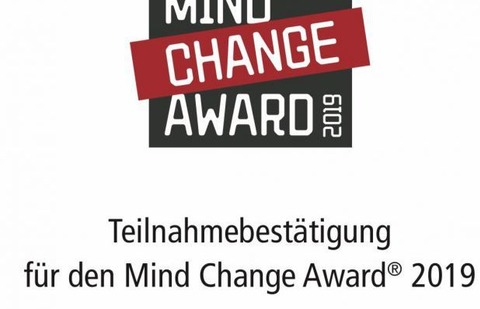 Nominiert für Mind Change Award